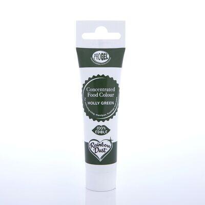 Rainbow Dust ProGel® -HOLLY GREEN -Χρώμα Τζελ   Βαθύ Πράσινο 25γρ