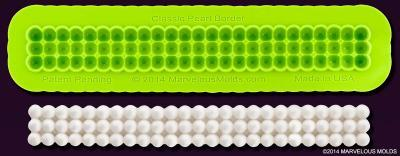 Marvelous Molds Silicone Mould -CAKE BORDER -CLASSIC PEARLS -Καλούπι Σιλικόνης Πέρλες Τριπλή Σειρά