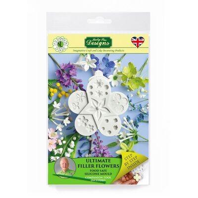 Katy Sue Silicone Mould & Veiner -ULTIMATE FILLER FLOWERS - Καλούπι Σιλικόνης και πατάκι Διάφορα Λουλούδια