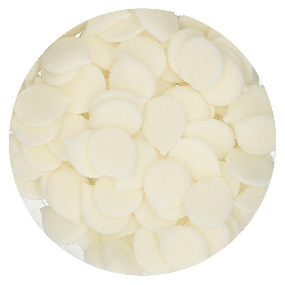 FunCakes Deco Melts -NATURAL WHITE (no E171)-Άσπρο 1 Κιλό