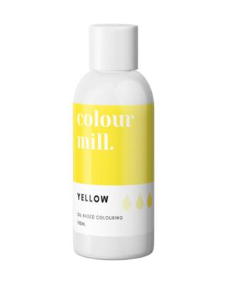 Colour Mill Oil Based Gel Colour -YELLOW 100ml - Χρώμα Σοκολάτας σε Τζελ Κίτρινο