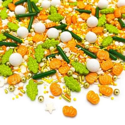 Happy Sprinkles Mix -FARMERS' MARKET 90g - Μείγμα Ζαχαρωτών Halloween/Φθινόπωρο σε Πορτοκαλί και Πράσινες Αποχρώσεις