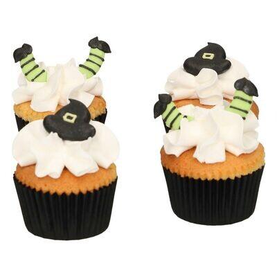 FunCakes Sugar Decorations -WITCH HAT & LEG SET Witch Hat & Leg Set 18τμχ - Βρώσιμα Διακοσμητικά Ζαχαρωτά Καπέλο και Πόδια Μάγισσας