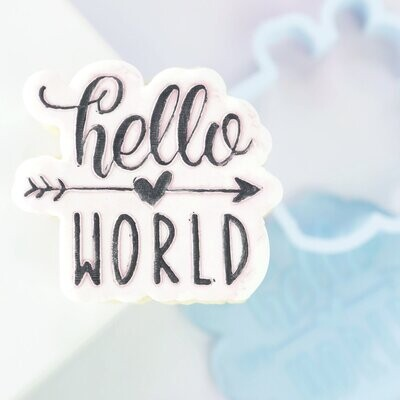 Sweet Stamp -OUTboss Stamp 'n Cut -HELLO WORLD