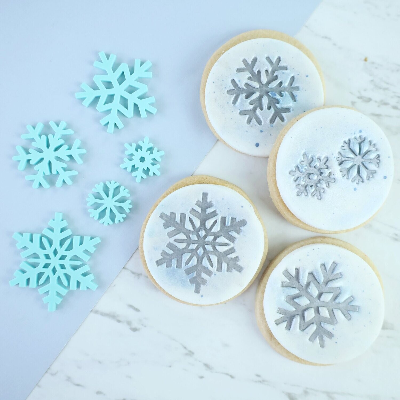 Sweet Stamp -Embosser -SNOWFLAKES - Χριστουγεννιάτικες Σφραγίδες Χιονονιφάδες