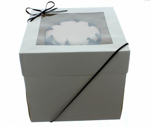 Extra Deep Cake Box With Window 40εκ- Ψηλό Κουτί με Διάφανο Καπάκι 40εκ με Ύψος 30εκ ∞