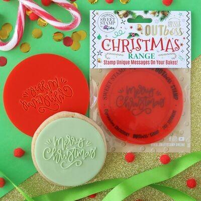 Sweet Stamp -OUTboss Christmas -Elegant 'Merry Christmas' - Σφραγίδα