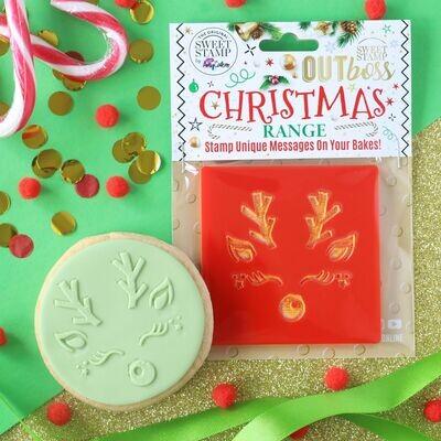 Sweet Stamp -OUTboss Christmas -CUTE REINDEER FACE Σφραγίδα