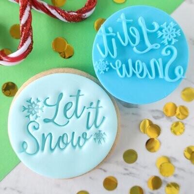Sweet Stamp -Embosser Christmas -LET IT SNOW - Σφραγίδα