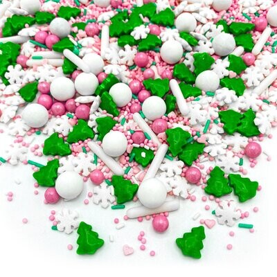 Happy Sprinkles Mix -PINK WONDERLAND 90g - Χριστουγεννιάτικο Μείγμα Ζαχαρωτών