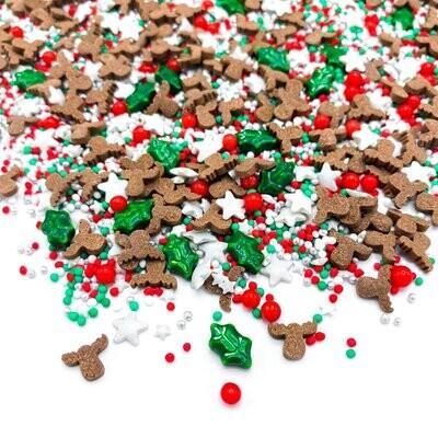 Happy Sprinkles Mix -RED NOSE 90g - Χριστουγεννιάτικο Μείγμα Ζαχαρωτών