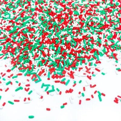 Happy Sprinkles - Jimmies -CHRISTMAS STRANDS 90g - Τρούφα σε αποχρώσεις του ουράνιου τόξου