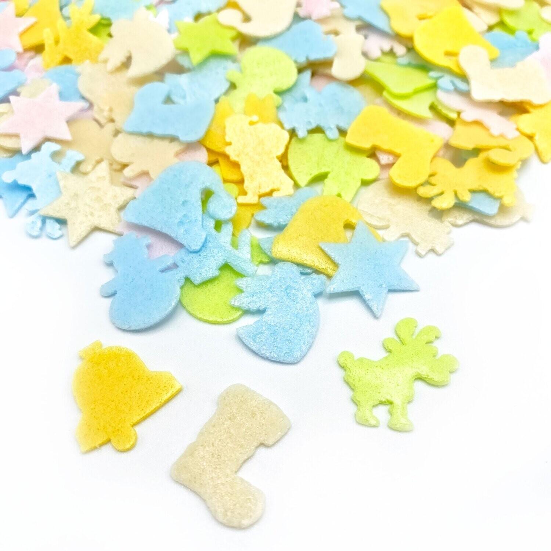 Happy Sprinkles - ALL I WANT 14g -Wafer - Μείγμα Ζαχαρωτών Χριστουγεννιάτικο από Φύλλο Βάφλας