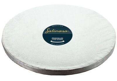 "Satinara ROUND Cake Drum Silver 30cm (12"") - Ασημένια Στρογγυλή Βάση 30εκ - Πάχος 1,2εκ"