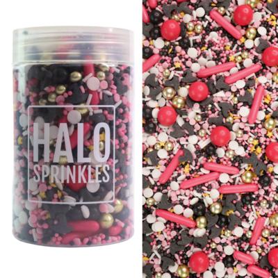 Halo Sprinkles 125γρ -100% THAT WITCH - Μείγμα Ζαχαρωτών Halloween με Μαύρα καπέλα Μάγισσας