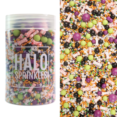 Halo Sprinkles 125γρ -BONE APPETITE - Μείγμα Ζαχαρωτών Halloween με ματωμένα κόκκαλα