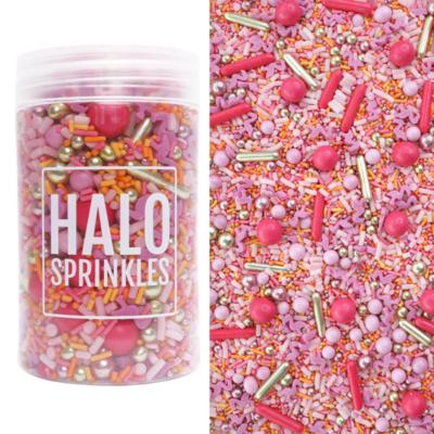 Halo Sprinkles 125γρ -FLAMINGO FLING - Μείγμα Ζαχαρωτών σε Ροζ και Πορτοκαλί αποχρώσεις με ροζ Φλαμίνγκο