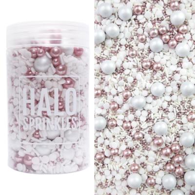 Halo Sprinkles 125γρ - BLUSHING BRIDE - Μείγμα Ζαχαρωτών  σε Ροζ και Λευκές Αποχρώσεις