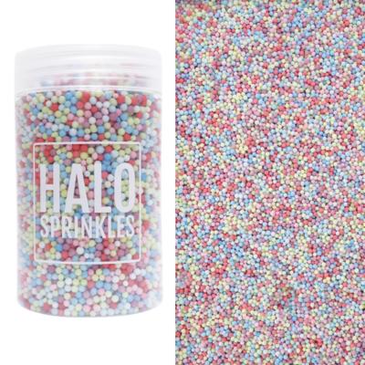 Halo Sprinkles Nonpareils -PASTEL RAIN 125g - Κας-Κας Πολύχρωμο