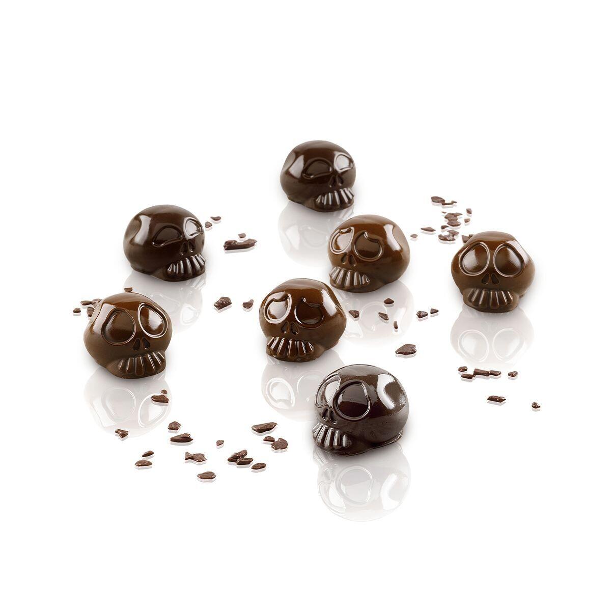 Silikomart Mould -SKULLS - Καλούπι Σιλικόνης για σοκολατάκια 'Κρανία'