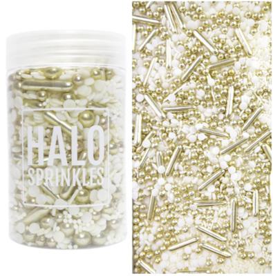 Halo Sprinkles 125γρ -GILDED - Μείγμα Ζαχαρωτών σε Λευκές και Χρυσές Αποχρώσεις