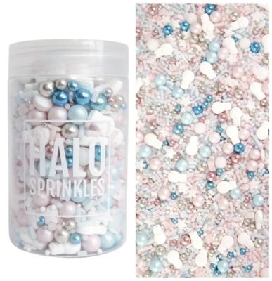 Halo Sprinkles 125γρ -WINTER WONDERLAND - Μείγμα Ζαχαρωτών Χριστουγεννιάτικο σε Μεταλλικές Ροζ και Γαλάζιες Αποχρώσεις