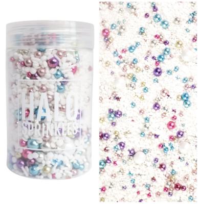 Halo Sprinkles 125γρ -TACKY TINSEL -Μείγμα Ζαχαρωτών σε Λευκές και Μεταλλικές Αποχρώσεις