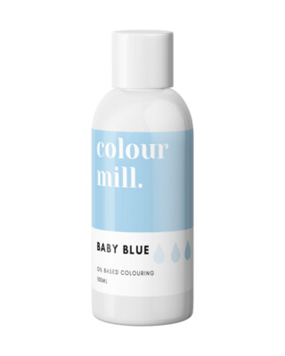 Colour Mill Oil Based Gel Colour -BABY BLUE 100ml - Χρώμα Σοκολάτας σε Τζελ Απαλό Γαλάζιο