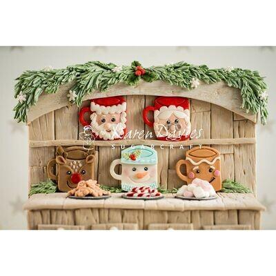 Karen Davies Silicone Mould -FESTIVE MUGS - Καλούπι Σιλικόνης Χριστουγεννιάτικες Κούπες