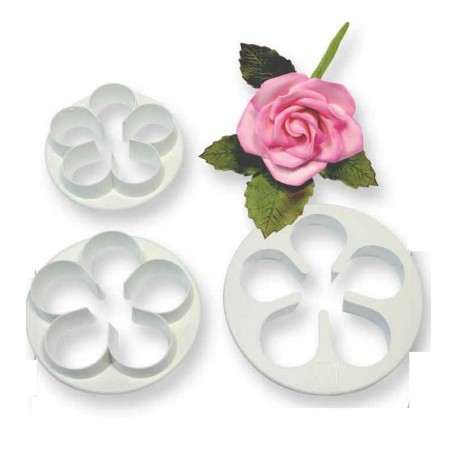 PME 5 Petal Cutters -LARGE set of 3 -Σετ 3τεμ Κουπ πατ Μεγάλο Λουλούδι με 5 Πέταλα