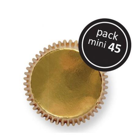PME Cupcake Cases MINI GOLD -Χρυσές Μίνι Θήκες Ψησίματος - 45τεμ