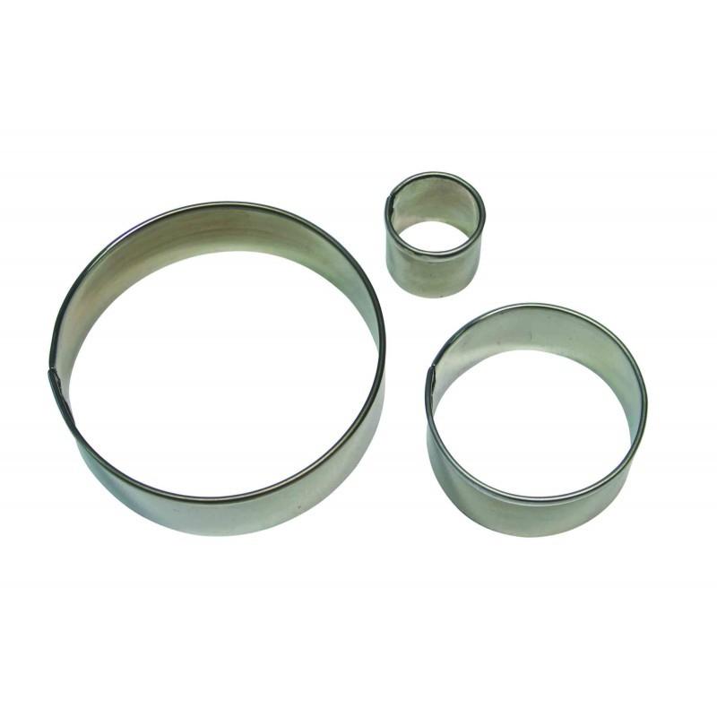 PME Geometric Basics -Set of 3 -ROUND/CIRCLES Cutters -Σετ 3τεμ κουπ πατ Βασική Σειρά Στρογγυλά/Κύκλοι
