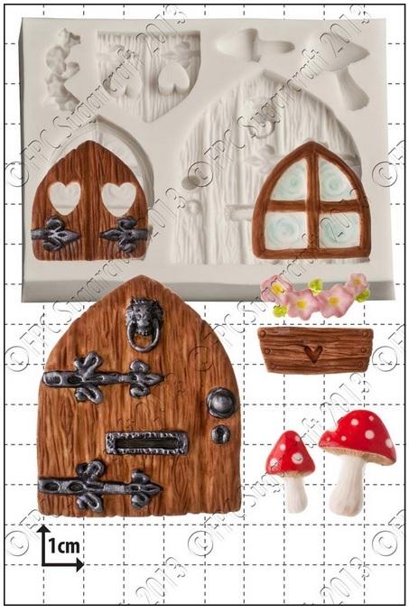 FPC Silicone Mould -FAIRY DOOR & WINDOWS -Καλούπι Σιλικόνης  Πόρτα & Παράθυρο Νεράϊδας