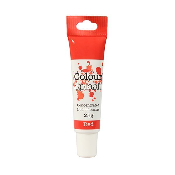 Colour Splash GEL -RED -Χρώμα Τζελ -Κόκκινο 25γρ