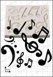 FPC Silicone Mould -MUSICAL NOTES -Καλούπι Σιλικόνης Μουσικές Νότες