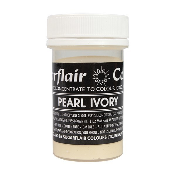Sugarflair Paste Colours -PEARL IVORY -Χρώμα σε Πάστα -Ιβουάρ Περλέ