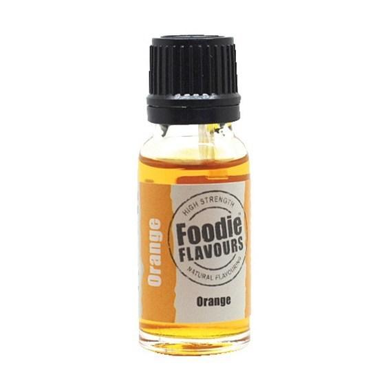 Foodie Flavours Natural ORANGE Flavouring -Φυσικό Άρωμα με Γεύση Πορτοκάλι 15ml ∞