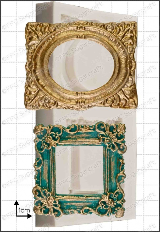FPC Silicone Mould -FRAME -ORNATE PICTURE FRAME -Καλούπι Στολισμένο Κάδρο