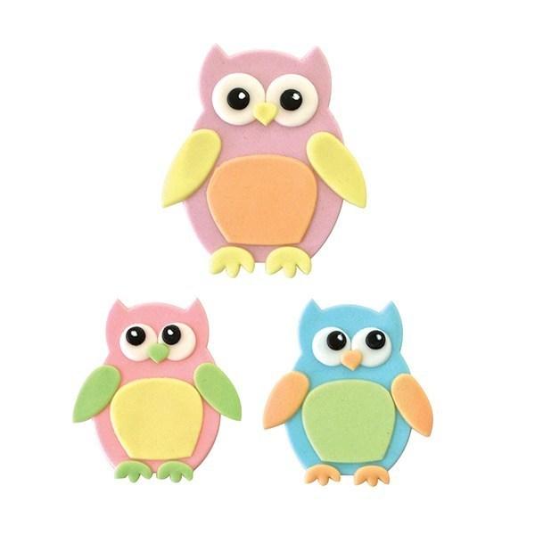 FMM Cutters -Mummy & Baby OWLS -Σετ 4τεμ κουπ πατ Κουκουβάγια Μαμά & Μωράκι