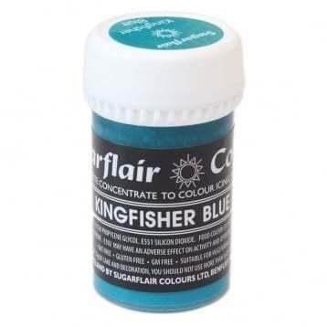 Sugarflair Paste Colours -KINGFISHER BLUE -Χρώμα σε Πάστα -Μπλε Αλκυόνας