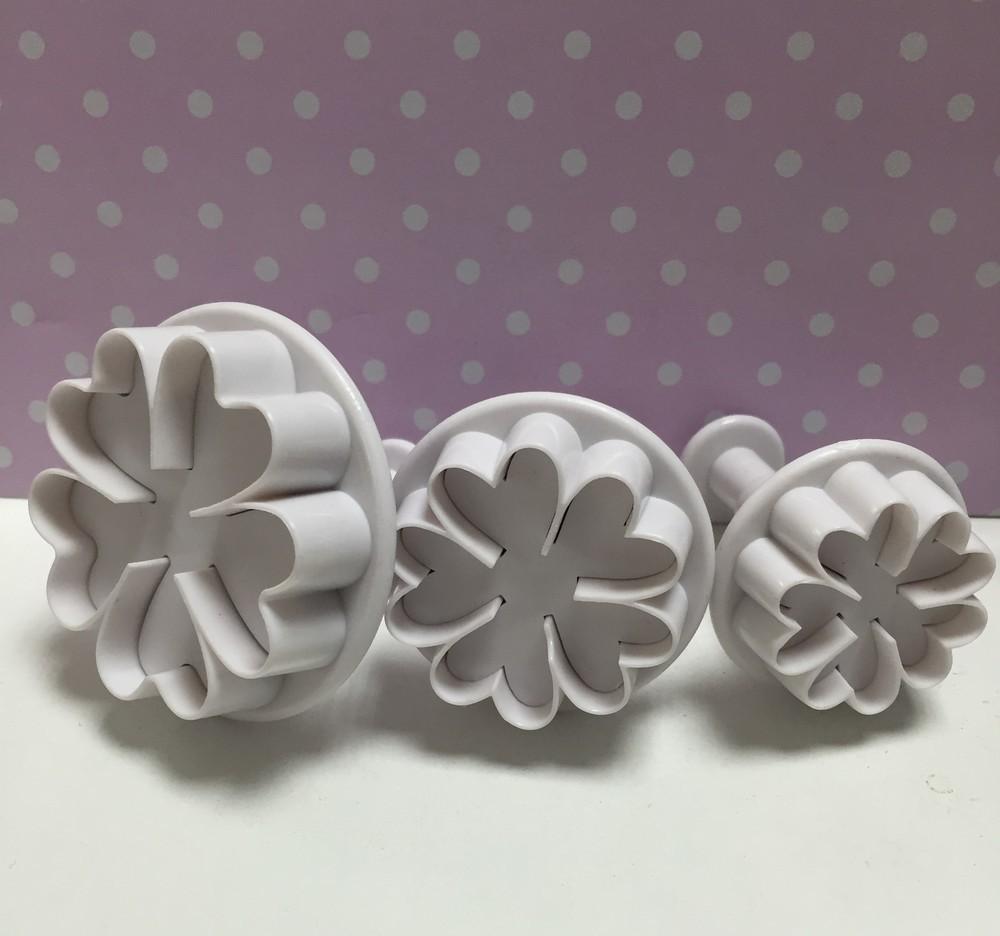 SALE!!! Culpitt Plunger Cutters -FLOWERS -Σετ 3τεμ κουπ πατ με Εκβολέα -Λουλούδια