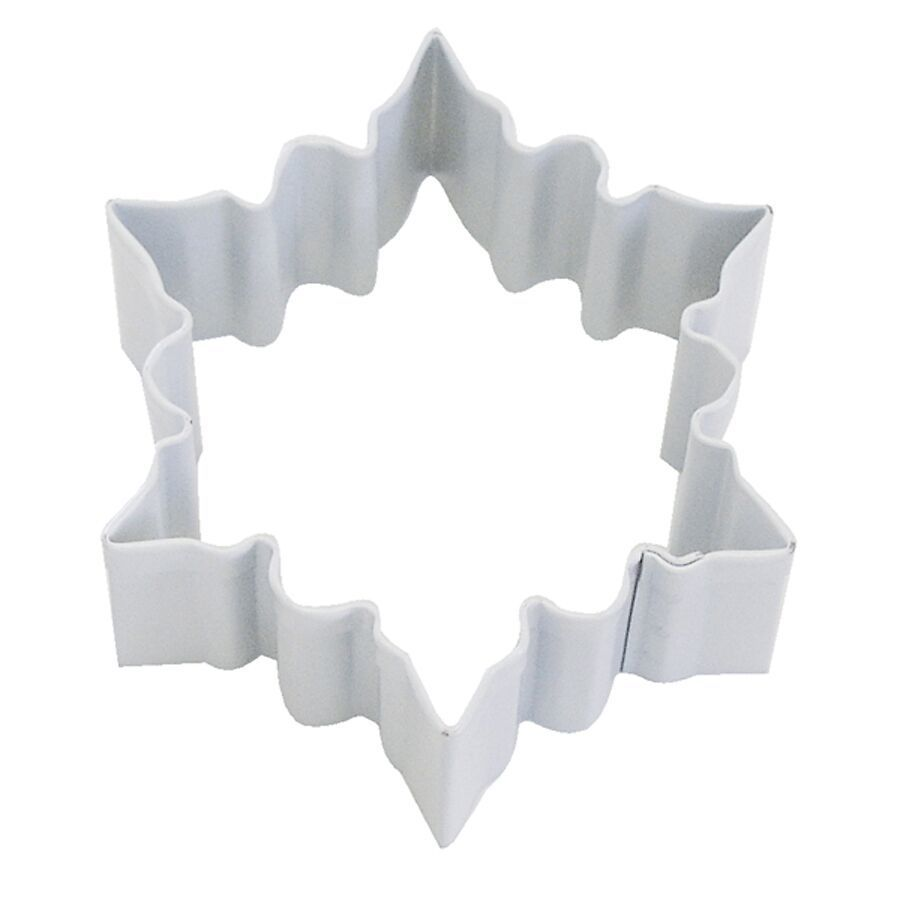 SALE!!! By AH -Cookie Cutter -SNOWFLAKE -WHITE -SMALL - Κουπ πατ Μικρή Λευκή Χιονονιφάδα 7εκ