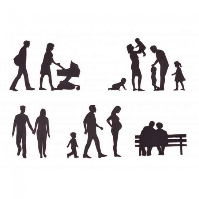 Patchwork Cutters -FAMILY SILHOUETTE SET -Κουπ πατ Μέλη Οικογένειας