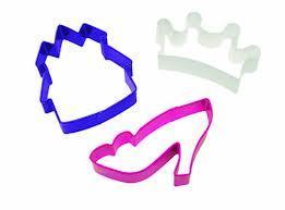 SALE!!! Wilton Cookie Cutter Set of 3 -PRINCESSES -Σετ 3τεμ Κουπ πατ Πριγκίπισσες