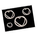 FMM Cutters -HEARTS -Σετ 4τεμ κουπ πατ Καρδιές