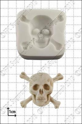 FPC Silicone Mould -SKULL & CROSSBONES -Καλούπι Σιλικόνης Νεκροκεφαλή με Κόκκαλα