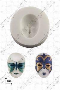 SALE!!! FPC Silicone Mould -VENETIAN MASK -Καλούπι Βενετσιάνικες Μάσκες
