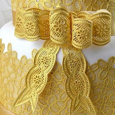 SALE!!! Claire Bowman - Cake Lace Mat Vintage Bows - Πατάκι Δαντέλας Φιόγκοι Εποχής - 26x38εκ