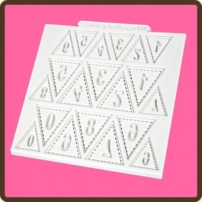 SALE!!! Katy Sue -Silicone Mould -BUNTING NUMBERS -Καλούπι Σιλικόνης Αριθμοί σε Σημαιάκια