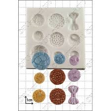 SALE!!!  FPC -Silicone Mould -ANTIQUE BUTTONS -Καλούπι Σιλικόνης Κουμπιά Αντίκες
